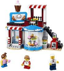 """Сладкарница - 3 в 1 - Детски конструктор от серията """"LEGO Creator - Buildings"""" - играчка"""