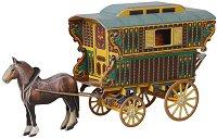 Цигански фургон - Картонен 3D модел за сглобяване -