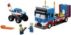 """Шоу на 4 колела -  3 в 1 - Детски конструктор от серията """"LEGO Creator Vehicles"""" - играчка"""