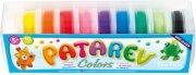 Глина за моделиране - Patarev - Комплект от 10 цвята по 18 g