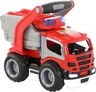 Пожарникарски камион с дръжка - Детска играчка -