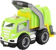 Боклукчийски камион с дръжка - Детска играчка -