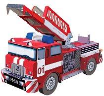 Пожарен камион - Картонен 3D модел за сглобяване -