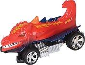 """Количка - Dragon Blaster - Детска играчка със светлинен и звуков ефект от серията """"Hot Wheels: Road Rippers"""" -"""