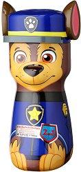 """Paw Patrol Shower Gel & Shampoo 2D - Chase - Детски душ гел и шампоан 2 в 1 от серията """"Пес патрул"""" - раница"""