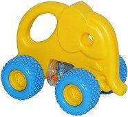 Количка - Слонче - Детска играчка за бутане -