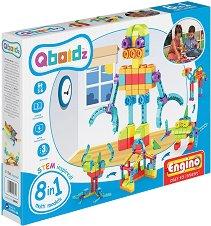 """Детски конструктор - 8 в 1 - Комплект от серията """"Qboidz"""" -"""