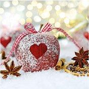 Салфетки за декупаж - Коледно сърце - Пакет от 20 броя