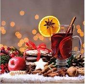 Салфетки за декупаж - Коледни сладкиши - Пакет от 20 броя