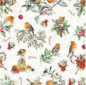Салфетки за декупаж - Коледни орнаменти - Пакет от 20 броя