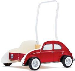 Количка за бутане - Beetly Wallker - Дървена играчка -