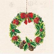 Салфетки за декупаж - Коледен венец - Пакет от 20 броя