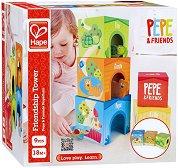 Кула - Пепе и приятели - Бебешка играчка за подреждане - количка
