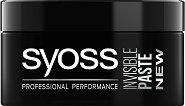 Syoss Invisible Paste - Моделираща паста за коса с лека фиксация - шампоан