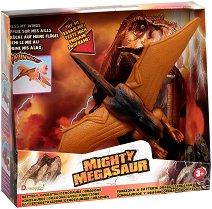 """Птеродактил - Детска играчка със звуков и светлинен ефект от серията """"Mighty Megasaur"""" -"""