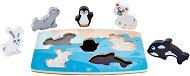 Полярни животни - Детски дървен пъзел - пъзел