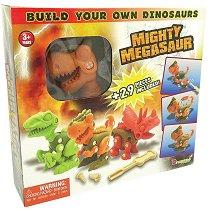 """Тиранозавър Рекс - Конструктор от серията """"Mighty Megasaur"""" - играчка"""