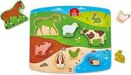 Домашни животни - Детски дървен пъзел -