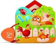 Дървена бебешка книжка - Домашни животни -