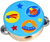 Тамбурина - Звезди и планети - Детски дървен музикален инструмент -