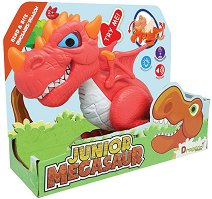 """Дракон - Детска играчка със звуков и светлинен ефект от серията """"Junior Megasaur"""" -"""