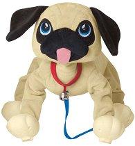 """Домашен любимец за разходка - Мопс - Плюшена играчка от серията """"Peppy Pups"""" -"""