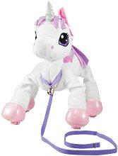"""Домашен любимец за разходка - Еднорог - Плюшена играчка от серията """"Peppy Pups"""" - играчка"""