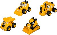 """Комплект от 4 мини строителни машини - Детски играчки от серията """"CAT"""" -"""