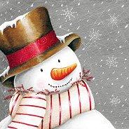 Салфетки за декупаж - Снежен човек - Пакет от 20 броя