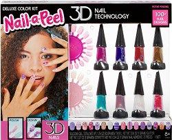 Детски подаръчен комплект за 3D маникюр - Nail-а-Peel - парфюм