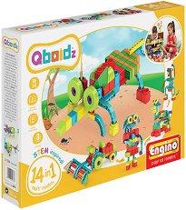 """Детски конструктор - 14 в 1 - Комплект от серията """"Qboidz"""" -"""