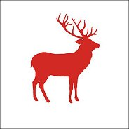Салфетки за декупаж - Червен елен - Пакет от 20 броя