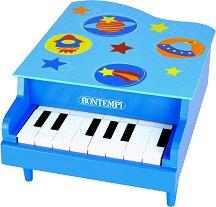 Пиано с 8 клавиша - Звезди и планети - Детски дървен музикален инструмент -