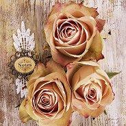 Салфетки за декупаж - Рози - Пакет от 20 броя