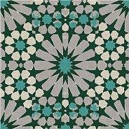Салфетки за декупаж - Зелени и бели орнаменти - Пакет от 20 броя