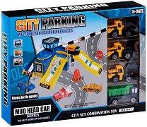 Мини писта със строителни машини - Детски играчки -