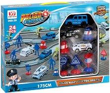 Писта с колички - Полицейско преследване - Комплетк с аксесоари - играчка