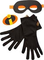 Маска, ръкавици и светеща емблема - Феноменалните 2 - Комплект детски аксесоари -