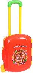 Пица парти - Детски комплект с аксесоари в куфарче на  колелца -