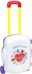 Лекарски кабинет - Детски комплект с аксесоари в куфарче с  колелца -