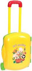Кухня - Детски комплект с аксесоари в куфарче с  колелца -