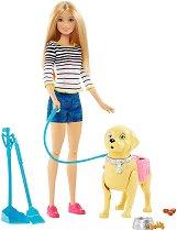 """Барби - На разходка с куче - Кукла и аксесоари от серията """"Barbie"""" -"""