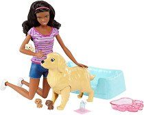 """Барби - Новородени кученца - Кукла и аксесоари от серията """"Barbie"""" -"""