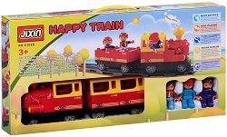 Влакче - Happy Train - Конструктор със звукови и светлинни ефекти -