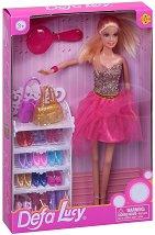 """Кукла Луси - Гардероб за обувки и чанти - Кукла с аксесоари от серията """"Defa Lucy"""" - играчка"""