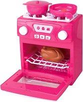 Детска готварска печка - Играчка със звуков и светлинен ефект -
