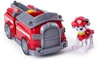"""Маршъл с пожарникарски камион - Детска играчка от серията """"Пес патрул"""" - творчески комплект"""