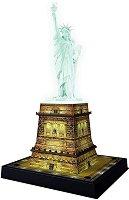 Статуята на свободата - 3D пъзел с LED светлини в различни цветове - пъзел