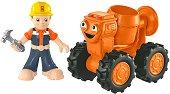 """Bob и Dizzy Tourneboule - Комплект за игра от серията """"Боб строителя"""" - количка"""