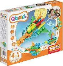 """Детски конструктор - 4 в 1 - Комплект от серията """"Qboidz"""" -"""